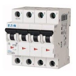 Disjoncteur modulaire 4P Courbe C 25A 4,5kA